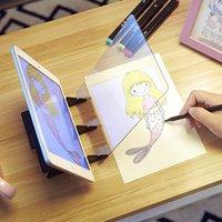 usb ir sensor groihandel-Projektionstafel Plotter Imaging Zeichenbrett Skizze Spiegelung Dimming Bracket Malerei Spiegelplatte Tracing Tabelle Zeichenwerkzeuge