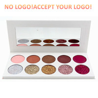 Wholesale eyeshadow logos for sale - Group buy No logo Colors Glitter matte Eyeshadow Palette With Mirror Shimmer Eye shadow accept logo printting Long Lasting Waterproof Eyeshadow