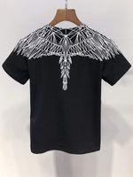asas de meninos venda por atacado-Moda New Angel Wings imprimir menino / menina Tops Tees verão 100% algodão Roupas de Marca T Shirt