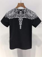 модные футболки оптовых-Мода New Angel Wings принт мальчик / девочка Топы Тис лето 100% хлопок Бренд Одежда Футболка