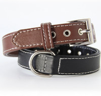 Wholesale d ring leather for sale - Group buy Dog Collars PU Leather Cat Dog Collar D Ring Safety Dog Necklace Doggie Leashes Accessories Supplies Colors Optional LQP YW3176