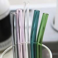 соломинки для цветных напитков оптовых-Соломенная стеклянная соломка ручной работы Экологичная бытовая стеклянная пипетка
