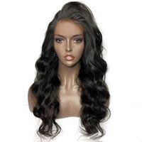 полные кружевные парики перуанская свободная волна оптовых-Natural Hairline Хорошие Бразильские Волосы Loose Wave Перуанские парики из натуральных волос с Детские Волосы Для Чернокожих Женщин