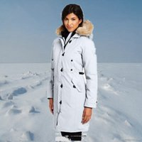 Wholesale women thick hooded parka resale online - Women Canada Down Parks Jacket hooded Warm Outdoor Sports Winter Cold Outdoor Ski Park Classic Coat LJJA2589