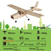 hobbymodelle großhandel-Dancing Wings Hobby S1601 Balsaholz RC Flugzeug 150 Fernbedienung Doppeldecker Zerlegt KIT Version DIY Flugmodell