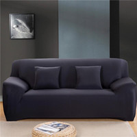 protecteurs de chaise couvre achat en gros de-190-230cm couleur solide élastique Sofa moderne Spandex Polyester Canapé d'angle Canapé Slipcover Chaise Protector Salon 3 Seater