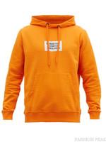 homens alaranjados do hoodie venda por atacado-Hoodies das mulheres dos homens com capuz de algodão solto com capuz letras camisola impressa camisola com capuz laranja estudante jaqueta 2019 outono e inverno novo