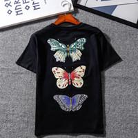 0e10926d Mens Designer T Shirts 19ss GUCC Brand Cotton T Shirt Print Butterfly  Dragonfly Pattern Shirts Women Designer Jackets