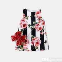 robe d'enfant tutu achat en gros de-2019 Le créateur de la marque Summer Girl Dress Child Enfants Vêtements pour enfants Princesse Imprimer Vêtements Robes de coton Roupa Menino-12