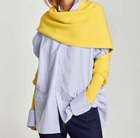 bufandas de punto para la primavera al por mayor-2019 Primavera Otoño Tejer bufandas para las mujeres más gruesas mujeres de moda cálida chal estilo coreano accesorios marea