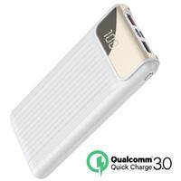 usb pil banka ücretli telefon toptan satış-Hızlı Şarj 3.0 Güç Bankası 10000 mAh Çift USB LCD Powerbank Harici Pil Şarj Cep Telefonları Tabletler Için Poverbank Şarj