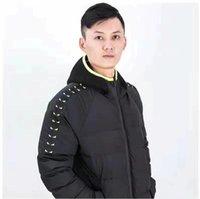 ingrosso applique pad-2019 Migliori Occhi abbigliamento uomini stilista di lusso cotone imbottito giacca verso il basso di alta qualità tendenza di moda del rivestimento degli uomini comuni del rivestimento M-3XL