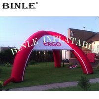 Wholesale build tent for sale - Group buy Good quality legs red inflatable spider tent with clear windows event station building for outdoor advertising