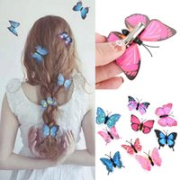 Wholesale purple butterfly hair accessories for sale - Group buy Mini Colorful Butterfly Hair Clips Women Hairpins Fashion Headpiece Barrette Wedding Hairpins Hair Accessories Hair Styling Tools