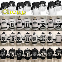 Wholesale kings jersey for sale - Group buy Stitched Stadium Series Los Angeles Kings Jersey Drew Doughty Anze Kopitar Jonathan Quick Wayne Gretzky White Black Hockey