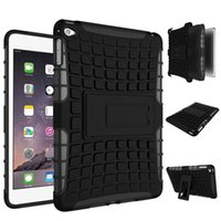 Wholesale 9.7 inch tablet pc online - Armor Rugged PC TPU Hybrid Hard Case Impact ShockProof Kickstand For iPad Mini Air Pro