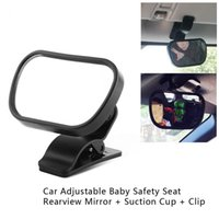Wholesale car mirror clips resale online - 1Pc Adjustable Baby Car Mirror Car Baby Child Back Seat Rear View Safety Mirror With Suction Cup Clip Black Car Styling