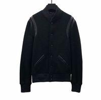 casacos europeus para homens venda por atacado-Melhor versão de luxo jaqueta europeia clássico preto e branco jaqueta de beisebol homens e mulheres de alta qualidade designer jaqueta hfbyjk240