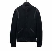 ingrosso giacche europee per gli uomini-Migliore versione Giacca europea di lusso Giacca da baseball classica in bianco e nero Giacca da uomo di alta qualità per uomo e donna HFBYJK240