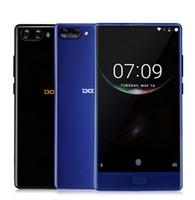 ingrosso doogee phone-Vendite calde Original Doogee Mix Cellulare Android 7.0 5.5 '' HD 4 GB / 6 GB RAM 64 GB ROM 8MP + 16MP Doppia lente posteriore Octa Core Fingerprint