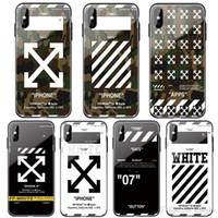 sınırlı iphone toptan satış-Moda 3D Sınırlı Kamuflaj cam + iphone 11 pro maksimum 6 6S S için yumuşak silikon kapak durumda artı 7 7plus 8 8plus X XR XS MAX telefon coque