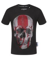 modes t shirts conceptions de col achat en gros de-2019 Original Fendi Philipp PleiN T-shirt Lettre Imprimé Col Rond T-shirt Hommes Taille M-3X
