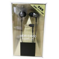 Wholesale headphones online - 2019 Newest Hot Earphone MDR EX650 Canal type black MDR EX650 Ear in heavy bass headphones for mobile phones
