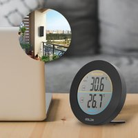 Wholesale weather station sensors for sale - Group buy Baldr Round Shape Thermometer Wireless Table Indoor Outdoor LCD Display Weather Station Digital Wall Temperature Meter Sensor