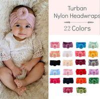 kleinkind haar zubehör boutique großhandel-Baby Stirnband Infant Weiche Turban Nylon Headwraps Knoten Stirnbänder Haarschmuck Boutique Store Supplies 22styles RRA1595