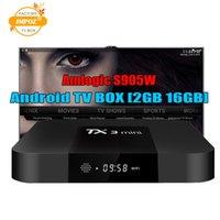 android mini pc 8gb großhandel-1 STÜCKE Amlogic S905W TV Box TX3 Mini 1 GB 8 GB Internet TV Box besser als Android 7.1 MXQ Pro TV Box Unterstützung 4K H.265 1080P Videostreaming