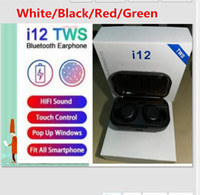 Wholesale i7s tws headphones for sale – best DHL Free colors Wireless Bluetooth Headphones i12 TWS V5 Stereo Cell phone Earphones Sports Headphone Touch i7mini i7S