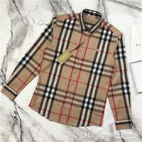 blusa bordada xl al por mayor-19ss Nuevo diseño de marca de lujo bbr bordado logotipo de ocio blusa Camisa Hombres Mujeres Moda palid Streetwear Sudaderas camisas al aire libre