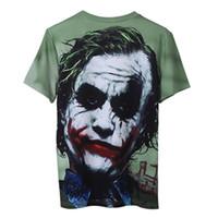 asiatische mode t-shirt männer großhandel-Sommer Herren T-Shirt mit Clown 2019 Neue Mode Männer Designer T Shirts Liebhaber Schädel 3D kurzärmelige Tops Tees Kleidung Großhandel Asiatische Größe