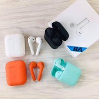 Wholesale white color windows for sale - V8 TWS Pop Up Window Touch Wireless Earbuds Double V5 Bluetooth Headphones Earphones Headset Earbuds