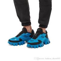 ingrosso tessuto a maglia nera bianca-Sneakers uomo Cloudbust Thunder Knit di ultima collezione, scarpe da trekking da uomo in tessuto Eyestay oversize in bianco giallo nero taglia 38-44