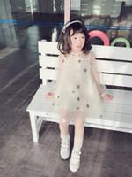 süße babykleidung großhandel-Kinderbekleidung 2019 Sommer Sweet Gaze Kinder Kleid Mittlere und kleine Kinder Temperament Sterne Mädchen Baby Tutu