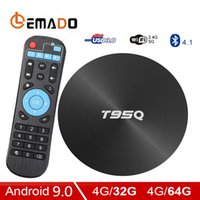 Wholesale android tv core 4k 3d resale online - LEMADO T95Q TV Box Android GB GB DDR3 Amlogic S905X2 Quad Core WiFi G G D K HDR Support HDMI Google Play