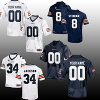 ae2caf1b6c9 Men NCAA JERSEY Auburn Tigers Customized 34 Bo JACKSON 8 Jarrett Stidham 2  Cameron Newton American College Football jerseys SIZE S-3XL