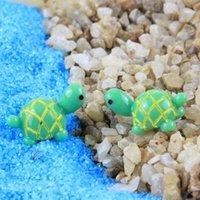 ingrosso miniature garden gnome-Green Tortoise Fairy Garden Miniature Tartarughe 1x2cm Gnomi Moss Terrari Resina Artigianato Figurine Ornamenti da giardino Decorazione paesaggistica