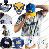 marca de jersey al por mayor-Custom Pittsburgh Panthers Baseball Jersey Nueva marca Cualquier nombre Número 1 Nico Popa 3 Sky Duff 5 Connor Perry 34 TJ Zeuch PITT S-4XL