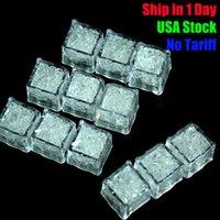 su flaş otomatik olarak toptan satış-Flaş Ice Cube Su Actived Flaş Led Işıklı Su içine koyun Led parti ışıkları otomatik Parti Düğün Barlar için Flash İçki