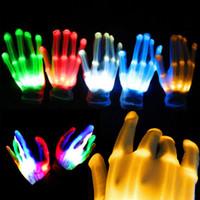 acessórios de iluminação venda por atacado-1 Pcs LED Luvas De Incandescência Glow Light Up Dedo Iluminação Dance Party Decoração Brilho Fontes Do Partido Coreografia Adereços de Natal