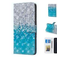 protector de teléfono de agua al por mayor-Dreamy 3D Blue Sea Water Sand Design Funda protectora para móvil