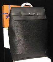 dağcılık sırt çantası toptan satış-Klasik Tasarımcı Sırt Erkek Sırt Çantası Sırt Çantası Gerçek Deri Dağcılık Omuzlar Sırt Çantası Yüksekliği Kaliteli M43296 Hobo çanta Seyahat Çantası