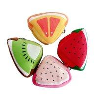 frutas em forma de bolsas venda por atacado-Fruit útil Shaped Purse Coin Para Mulheres Bolsa de Dinheiro Mini Bolsa Key Bag Feminino Zipper das meninas bonitos carteira pequenas Alterar Purse