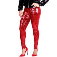 xs clubwear al por mayor-Feitong Womens Plus Size Shiny bringth liso pantalones de estilo especial Pantalones Leggings delgados Pantalones Sexy para mujer Clubwear # y25
