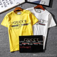граффити шею футболку оптовых-3511 #, короткие рукава с надписью в виде граффити, принт в виде буквы, пара коротких рукавов, футболка с круглым вырезом.