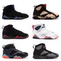 bunny mavi toptan satış-7 s Klasik 7 erkek kadın basketbol ayakkabıları saf para tavşan Bunny raptor fransız mavi Bordo Sıcak Lava Verde siyah kırmızı beyaz mavi sneakers