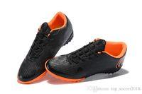 элитный оранжевый футбол оптовых-Черный Низкий Оранжевый Mercurial SuperflyX 6 Elite TF Детские Футбольные Бутсы 100% Оригинальные Женские Футбольные Бутсы Плоские Дети Крытый Футбольные Бутсы