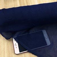 ingrosso tessuto di cotone tinto in filato-50% cotone 50% tessuto chiffon di seta colore: DEEP-BLUE, larghezza: 135cm, spessore: 6mm, vendita da 3m, # A3, YYN DYED